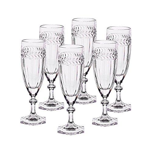 CRISTALICA Ensemble De 6 Pièces en Verre De Champagne Miss Desiree 130 ML Style Moderne Transparent