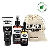 Brooklyn Soap Company: Shaving Bag · Hochwertiges Rasur-Set für Männer · Aftershave Balsam, Aftershave Spray und Rasieröl