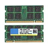Kafuty 1GB 533MHZ DDR2 Memory Module 200Pin DDR2 RAM Memory Kit Transmisión de Datos rápida para PC2-4200 Computadora de Escritorio para Intel para AMD