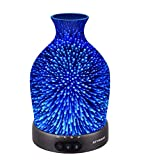 Sztrokia Essential Oil Diffuser, 3D Galaxy Aromatherapy Diffuser,200ML Aroma Essential Oil Cool Mist Humidifier with 24 Color Changing,Metal Case Base,Waterless Auto Shut-Off