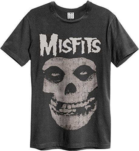 Amplified Misfits Skull T-Shirt (Charcoal, M)