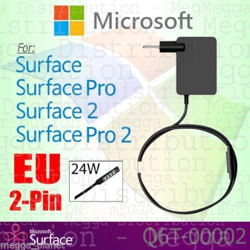 GENUINE Microsoft Surface RT / Pro / 2 EU 2 Pin-24W-Netzteil Netzteil Ladegerät Netzteil (2-polig EU-Stecker) Q6T-00002