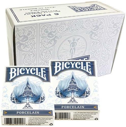 Shop4top 6 Decks Bicycle Porcelain Spielkarten Box Case