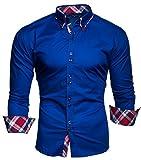 Kayhan Hombre Musteraermel Camisa Blue S