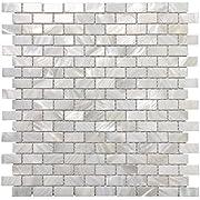 Art3d Mother of Pearl Shell Mosaic Tile for Kitchen Backsplashes/Bathroom Tile, White Subway Mosaic Tiles (6 Pack)