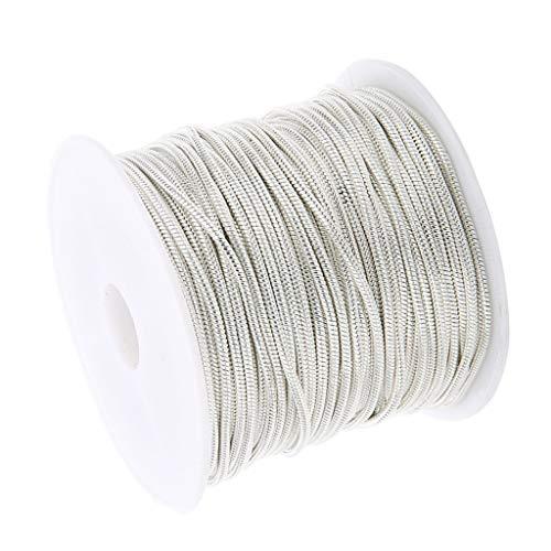 non-brand 10 Yards Schlangenkette Kabel Kette Metallkette Gliederkette Kellnerkette zum Basteln für Halskette Fußkettchen Herstellen - Silber-