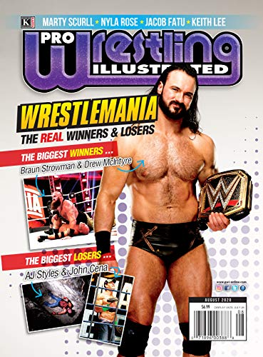 Pro Wrestling Illustrated: August 2020 Issue-WrestleMania 36 REAL Winners and Losers, Hotseat with Nyla Rosa, Keith Lee, Jacob Fatu, Marty Scurll (English Edition)