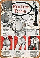 Men Love Fannies ティンサイン ポスター ン サイン プレート ブリキ看板 ホーム バーために