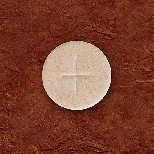 Whole Wheat Altar Communion Bread 1000 Count Box 1 1/8' Round With Cross Design