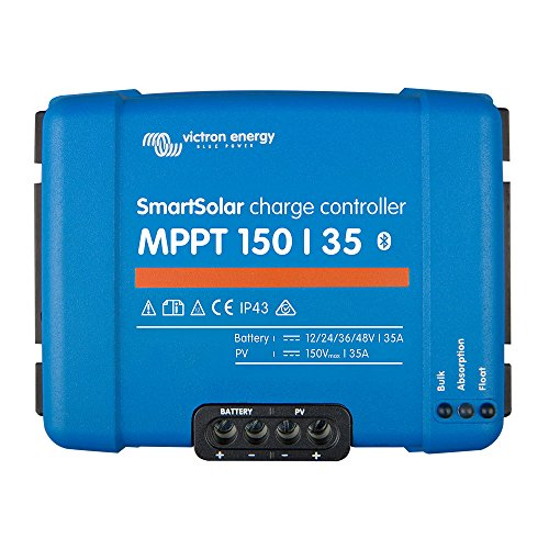 Victron SmartSolar MPPT Regolatore di Carica 150/35 12V 24V 36V 48V Bluetooth Dongle Integrato SCC115035210