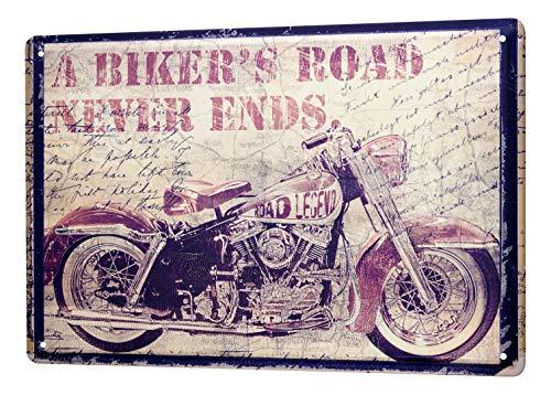 LEotiE SINCE 2004 Blechschild Dekoschild Küche Garage Motorrad Garage Motorrad Used Look Bild Wand Deko Schild 20X30 cm