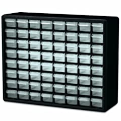 Stacks securely, can also be wall mounted with keyhole slots Rugged, high-impact polystyrene frame Drawer dividers molded into back of cabinet The small drawer dimensions are 6 x 2-1/4 x 1-5/8 inches Perfect for crafts, beads, hardware, fishing, and ...