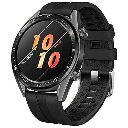 Correas de Silicona Solo Loop Compatible con Samsung Galaxy Watch 3 45mm/Galaxy Watch 46mm, 22mm Correas para Band, Watch Straps Compatible con Huawei watch GT/ 2 Classic, Negro