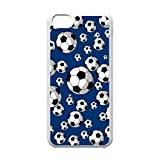 New wugdiy DIY Case Cover for iPhone 5C with Customized Soccer