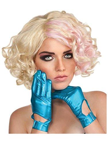 Lady Gaga Blue Gloves