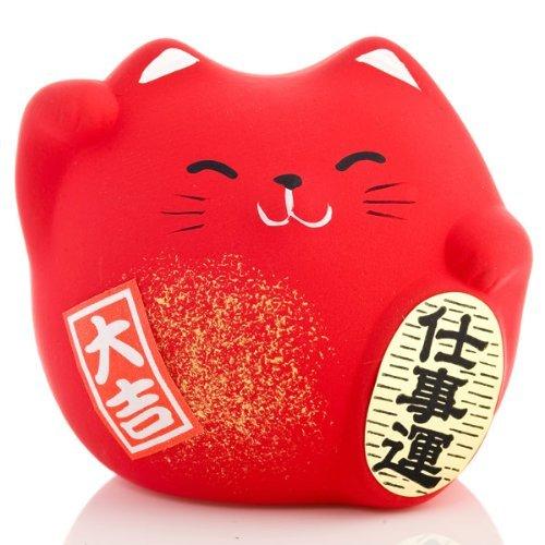 Gifts of the Orient - gato de la suerte - rojo - protección contra Evil y enfermedad