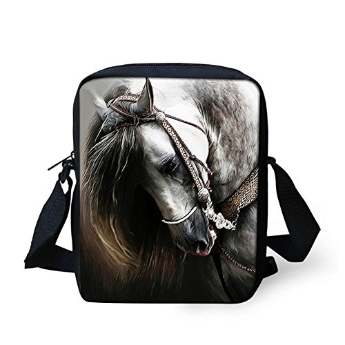 HUGS IDEA  Y-W793E, Damen Umhängetasche pferd Größe S