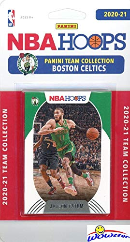 Boston Celtics 2020/21 Panini Hoops NBA Basketball EXCLUSIVE Factory Sealed Limited Edition 9 Card Factory Sealed Team Set with Jayson Tatum, Jaylen Brown, Payton Pritchard RC & Many More! WOWZZER!