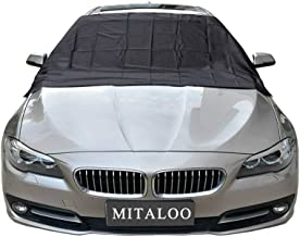 MITALOO Magnetic Windshield Snow Frost Ice Cover Sunshade Snow Covers with Magnet Edges Fits Most Car, SUV, Truck, Van or Automobile