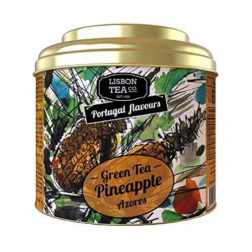 Lisbon Tea No. 83 Grüner Ananastee | Aromatisierter Grüner Tee mit Ananas | Natürlich süß und intensiv | Loser Infusions Tee