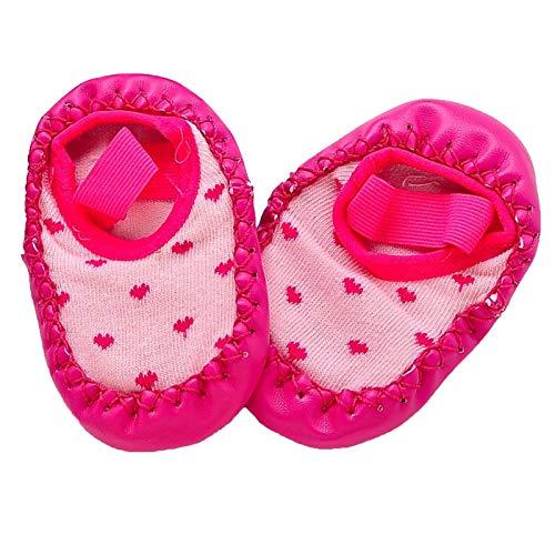 Calcetines Liga de niño antideslizante para niños con fondo suave, calcetines de piso casero recién nacido, calcetines de niños pequeños, calcetines de primavera y otoño para niños y niñas, de 0 a 7 a