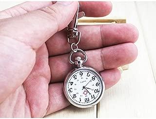 BrandChef(TM Hot Popular Women's Cute Nurse Fob Brooch Pocket Watch Bronze Quartz Vintage Pocket Watch Movement Keychain Keyring Watch