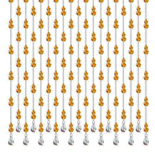 NBVCX Herrajes para Muebles Cortinas Cortina de Cuentas Calabaza de Cristal Entrada Cortada Sala de Estar Cortina de baño Interior 3 Colores 24 tamaños (Color: B Tamaño: 120x155cm-29 raíces)