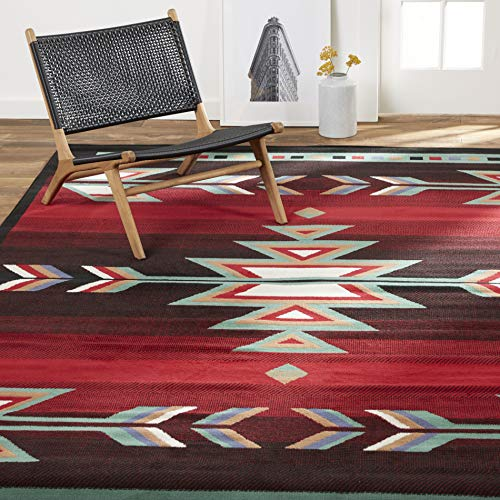 Home Dynamix Sagrada Southwest Area Rug , 7'8' x 10'7' inch , Black/Red/Ivory