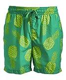 Kanu Surf Men's Havana Swim Trunks (Regular & Extended Sizes), Pina Green, 3X