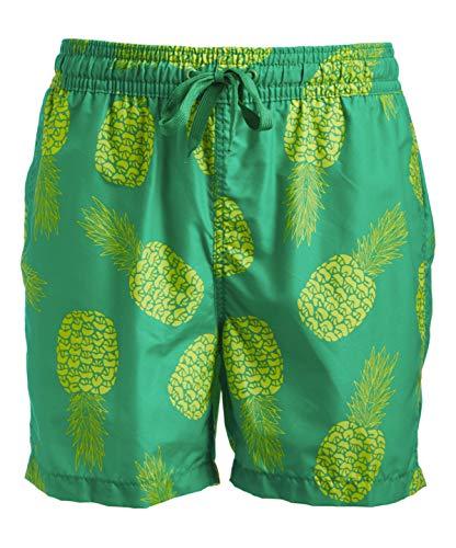 Kanu Surf Men's Havana Swim Trunks (Regular & Extended Sizes), Pina Green, Large