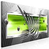 murando - Bilder Abstrakt 120x40 cm Vlies Leinwandbild 1 TLG Kunstdruck modern Wandbilder XXL Wanddekoration Design Wand Bild - grau grün a-A-0344-b-b