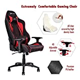 Ewin Gaming Chair Champion Series 4D Armrests 85°-155° Recliner Memory Foam PU Leather Ergonomic High-Back Racing Computer Office Chair CPB-Red