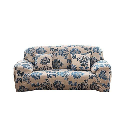 tidystore - Funda de sofá de 1 a 4 plazas, con Estampado de Flores, elástica