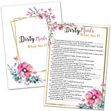 Bridal Shower Games - Dirty Minds What am I Wedding Shower Games for Guests - Bachelorette Party Games for 40 Guests