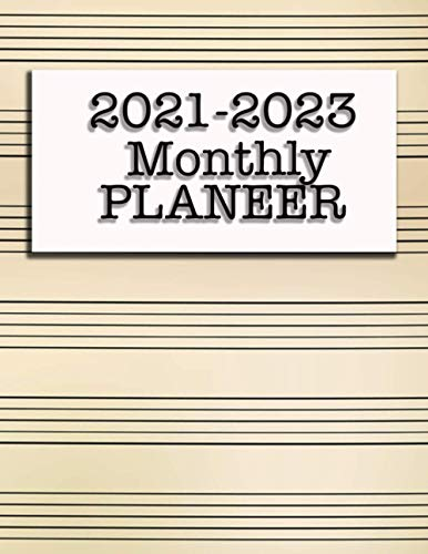 2021-2023 Monthly Planner: 3 Year Monthly Planner 36 Month Calendar Appointment Book Large Planner
