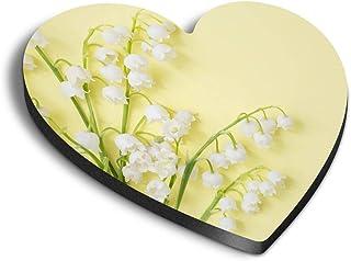 Destination Vinyl ltd 21790 Aimants en forme de cœur en MDF – Muguet et fleurs de jardin pour bureau, armoire et tableau b...