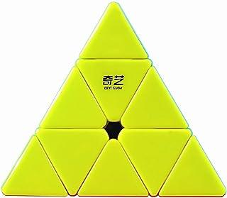 Coogam Qiyi Pyraminx Stickerless Speed Cube Pyramid Puzzle Toy(Qiming Version)