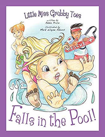 Little Miss Grubby Toes Falls in the Pool!