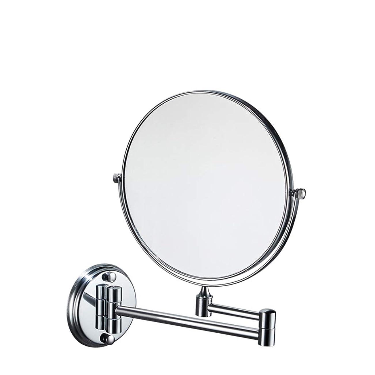 宗教ちょうつがい動揺させるHUYYA バスルームメイクアップミラー 壁付、シェービングミラー 3 倍拡大鏡 バニティミラー 両面 化粧鏡 丸め 寝室や浴室に適しています,Silver_8inch