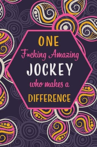 One F cking Amazing Jockey Who Makes A Difference Blank Lined Pattern Funny Journal Notebook product image