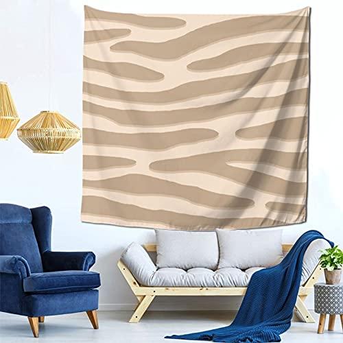 Gbyuhjbujhhjnuj Tapiz cuadrado multifunción con diseño de cebra o rayas salvajes color beige para colgar en la pared, decoración del hogar para sala de estar, dormitorio, 152 x 152 cm