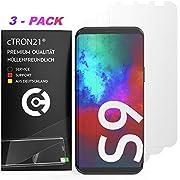 cTRON21 3X Schutzfolie kompatibel mit Samsung Galaxy S9 Vollständige Abdeckung Hüllenfreundlich Folie Displayschutzfolie