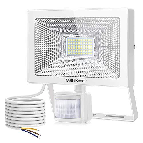 MEIKEE 54W LED Strahler mit Bewegungsmelder Superhell 5500LM LED Fluter IP66 Wasserdicht Außenstrahler 6500K Tageslichtweiß Scheinwerfer Außenbeleuchtung für Garage, Garten, Hof