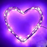<span class='highlight'><span class='highlight'>KEEDA</span></span> Solar Copper Wire Lights,100LED 8 Mode 39.37ft/12m Waterproof Solar Fairy Starry Lights, Garden Outdoor Light Ambiance Lighting for Outside Christmas Tree Decoration (Purple)