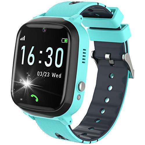 YENISEY Smartwatch Kinder, Zwei-Wege-Telefon mit Musik Player Kamera, Touchscreen Smart Watch Kids mit Spiel, SOS, Wecker, Rechner für Jungen Mädchen Geburtstag Geschenke - Blau