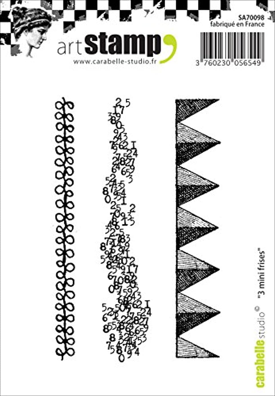 Carabelle Studio Cling Stamp A7-Small Border Strips