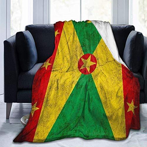 1010 Fleece-Decke mit Flagge von Grenada, leichte Decke, superweich, gemütlich, warm, für Wohnzimmer/Schlafzimmer, alle Jahreszeiten, 152,4 x 127 cm