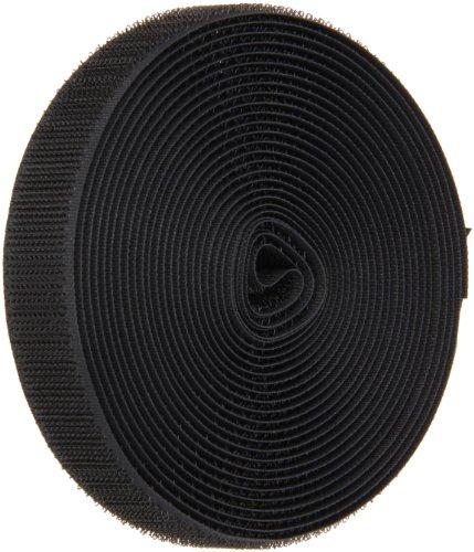 VELCRO 1003-AP-PB/H Black Nylon Woven Fastening Tape, Standard Back Sew-On Hook Only, 3/4 Wide, 15 Length