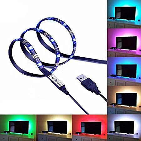SunSaver LEDテープライト SMD 5050 両面テープ テープled RGB 30leds/m 12v電源 高輝度 切断可能 ledテープ 明るいライト (2M LEDテープ)