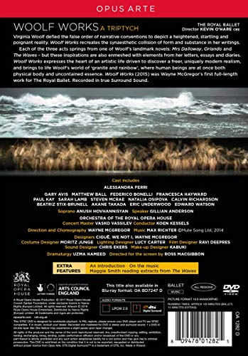 Richter: Woolf Works [Anush Hovhannisyan; Gillian Anderson; Orchestra of The Royal Opera House; Koen Kessels] [Opus Arte: OA1282D] [DVD] [NTSC] [2019]